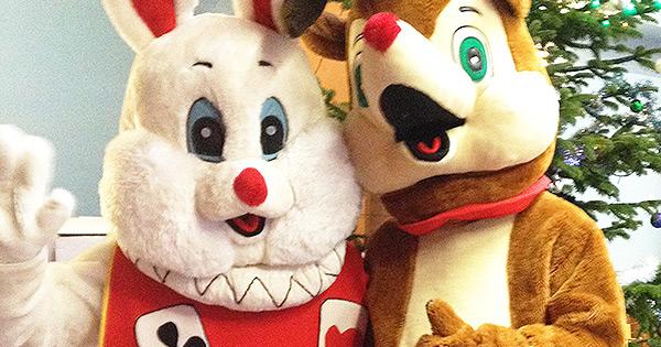 Animation de Noël : Mascottes